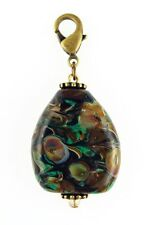 """Fenton Art Glass Hand Crafted PENDANT """"CAVERN'S EDGE"""" .925 Bead for Necklace"""