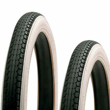 "Pair of White Wall Raleigh Chopper TYRES &  TUBES  16"" Front + 20"" Rear"