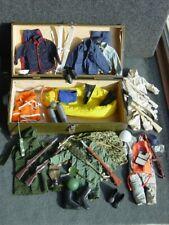 Gi Joe Type Metal  Footlocker vintage with KO Accessories, Used