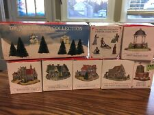 Libery Falls Collection Lot Of Buildings Houses Figureines Collectibles Village
