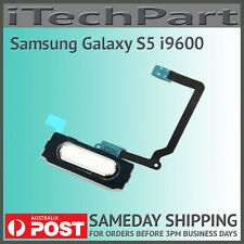 Genuine Samsung Galaxy S5 i9600 Home Return Button Flex Cable Replacement WHITE