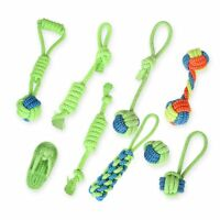 Dog Toy Pet Dog Chew Teething Toys Teeth Cleaning Pet Play Ball Cotton Rope