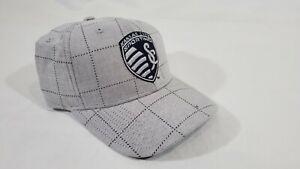 LZ Adidas Adult One Size Kansas City Sporting MLS Snap Back Baseball Cap Hat NEW