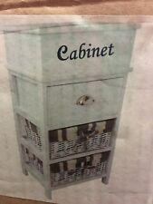 2 Wicker On Wood Drawers White Cabinet New Pick Up Baulkham Hills