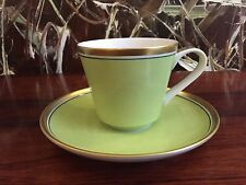 Reichenbach Colour Collection, Taza Café con Plato Verde 0,2 Litros - Alto