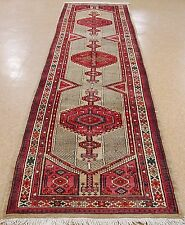 """PERSIAN SARAB Tribal Hand Knotted Wool CAMEL RED IVORY Runner Rug 3'5"""" x 14'4"""""""