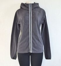 BILLABONG Women's Front Zipper Sweater with Hood - Gray sz M