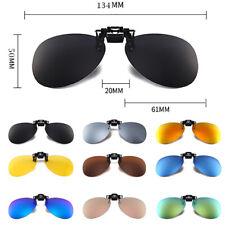 New Men Women Polarized UV400 Clip-on Flip-up Glasses Sunglasses Lenses US