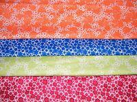 4 FQ Bundle – SPLASH of COLOR Geo Prints 100% Cotton Quilt Fabric Fat Quarters