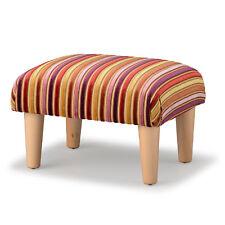 Biagi Upholstery & Design Purple Lilac Gold Striped Chenille Velvet Footstool
