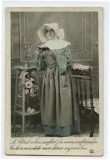 c 1910 Vintage French CATHOLIC NUN Beauty vintage photo postcard
