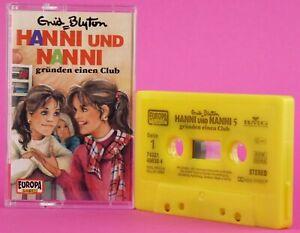 Hanni und Nanni 5 gründen einen Club  Enid Blyton Kassette gelb Europa
