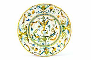 Antique Maiolica Plate Renaissance Decor by Cantagalli