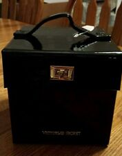 Victoria's Secret limited edition black patent leather pink lined jewelry case