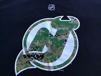 New Jersey Devils Camo Patrik Elias Jersey T-Shirt Reebok NHL XL 100% Cotton
