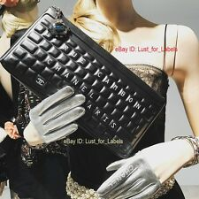 2017 CHANEL Black Leather O-Case Clutch Robot Keyboard Data Centre Pouch Bag NWT