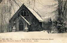 Winter View of Wallingford Presbyterian Church in Delaware County Pa 1907
