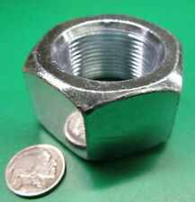 "Hex Nut, Zinc Grade 2 Steel, Rh, 1 1/2""-12, 2 1/4"" W x 1 9/32"" H, 3 Pcs"
