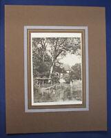 """Radierung von Otto Protzen """"Haus am Bach"""" um 1900 Druckgrafik Zeichnung Kunst sf"""