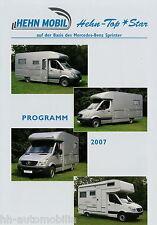 Prospekt Hehn Mobil Star Mercedes Sprinter 2007 Broschüre Reisemobil Wohnmobil