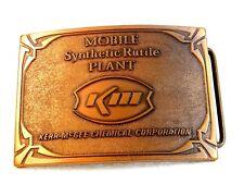Vintage Mobile Synthetic Rutile Plant Kerr McGee KM Belt Buckle