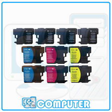 KIT 10 CARTUCCE BROTHER LC-980 LC-1100 DCP-145C DCP-165C DCP-185C DCP-195C