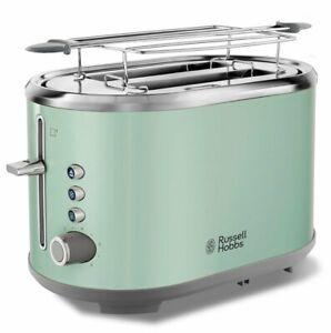 RUSSELL HOBBS Toaster Bubble Soft Green 25080-56 6 Bräunungsstufen Edelstahl