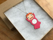 Ponyo - Hand Painted Wood Necklace