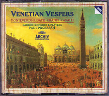 VENETIAN VESPERS Monteverdi Rigatti PAUL McCREESH 2CD Cavalli Gabrieli Fasolo