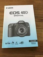 Canon EOS 40d Manuale di istruzioni italiano Italian manual