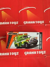 Ford E-350 Ambulance #74 Green 2016 Matchbox Power Grabs Case C