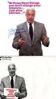 Joe DiMaggio Autographed Advertisement w/ Original Envelope