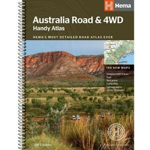 Australia Road & 4WD Handy Atlas Hema 12th Edition Spiral Binder + 188 new maps