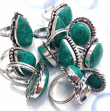 Turquoise Gemstone 5pcs Ring Wholesale Lot 925 Sterling Silver Overlay WHR-8