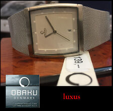 Luxury & Sports Obaku herren-stahl Watch v102gccmc with Issues NEW