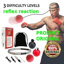 Fight Ball Reflex Boxing React Training Boxer Speed Punch Head Cap String Q9Q