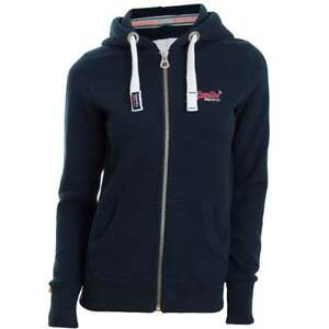 Superdry ladies Zip Hoody Orange Label M Great Christmas Gift Idea For Her!