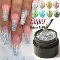 Nail Art Glitter Powder Dust for UV Gel Acrylic Nails Sequins Decoration Tips ~