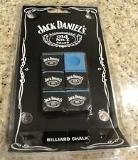JACK DANIEL'S BILLIARD CHALK 6 PIECES Specially Formulated by Master Chalk