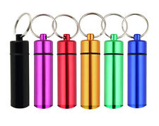 (Lot of 12) Colorful Travel Medicine Pill Bottle Key Rings 14mm