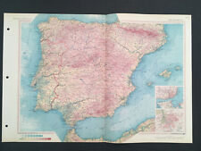 Map Of Spain & Portugal 1967