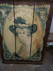 VINTAGE OLYMPIA BEER SIGN PICTURE ART OF A GIRL ON A WOOD PLANK (MAN CAVE)