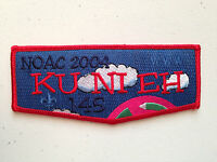 KU NI EH OA LODGE 145 SCOUT SERVICE PATCH FLAP NOAC 2004 DELEGATE RED