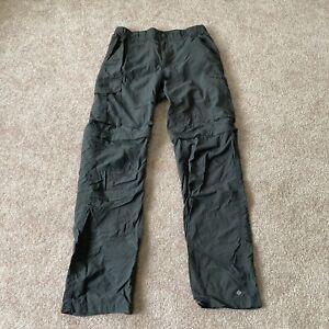 Columbia Omni Shade Mens Gray zip off Convertible Hiking sun Pants Size 30 X 32