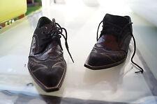 FREE & LANCE Damen Schuhe Western Cowboy Biker Schnürer Gr.4/ 37 schwarz TOP #13