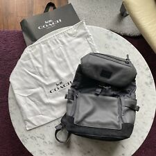 Coach Manahattan Backpack Grey Blue Black Suede F1780-85735 Retail $595