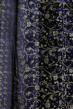 "SALE - Navy BLUE Full Length Indian Sari, Sheer Window Canopy Scarf 190"""