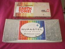 Vintage? Nupastel Color Sticks & Alphacolor Earth Tones pre-owned lot missing