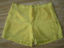 "Genuine Mens GUCCI Yellow Silk Swimming Swim Shorts Size 38 / approx W 29"" Great"