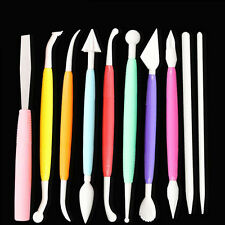 10pcs Cake Decor Sculpture Pen Knife Pastry Baking Decorating Modeling DIY Tools